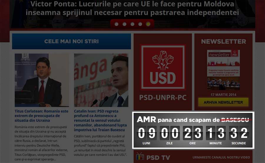 Captură site PSD